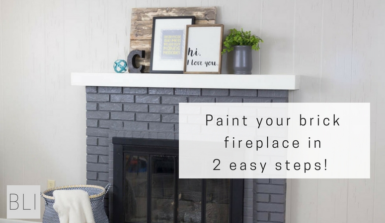 Paint Your Brick Fireplace In 2 Easy, Painted Brick Fireplace Color Ideas