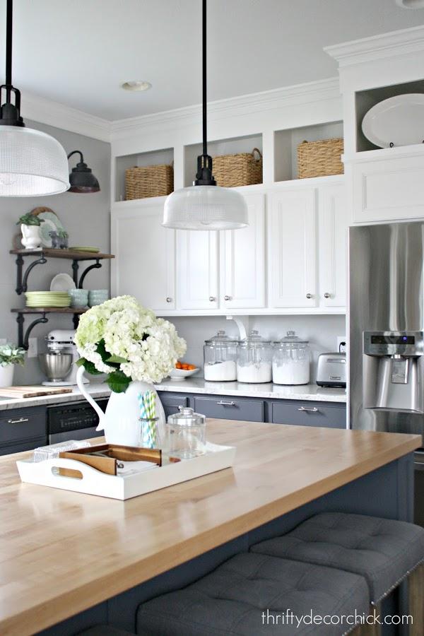 10 Ways To Decorate Above Kitchen Cabinets Birkley Lane Interiors