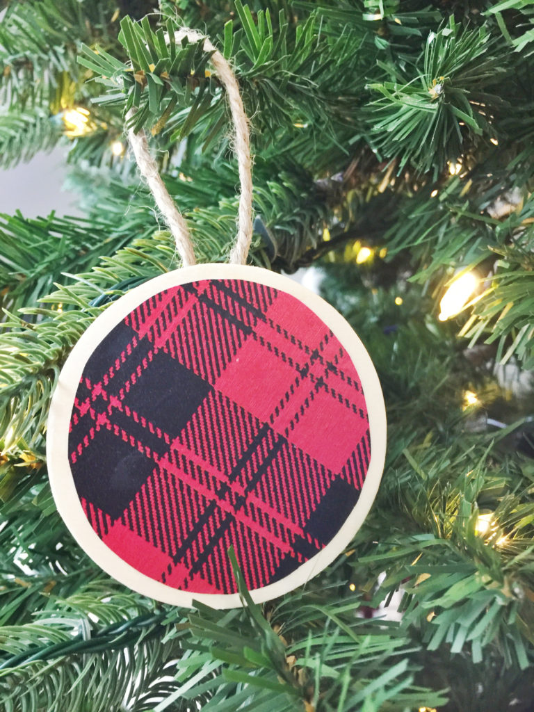 Diy Buffalow Plaid Christmas Ornaments Birkley Lane Interiors