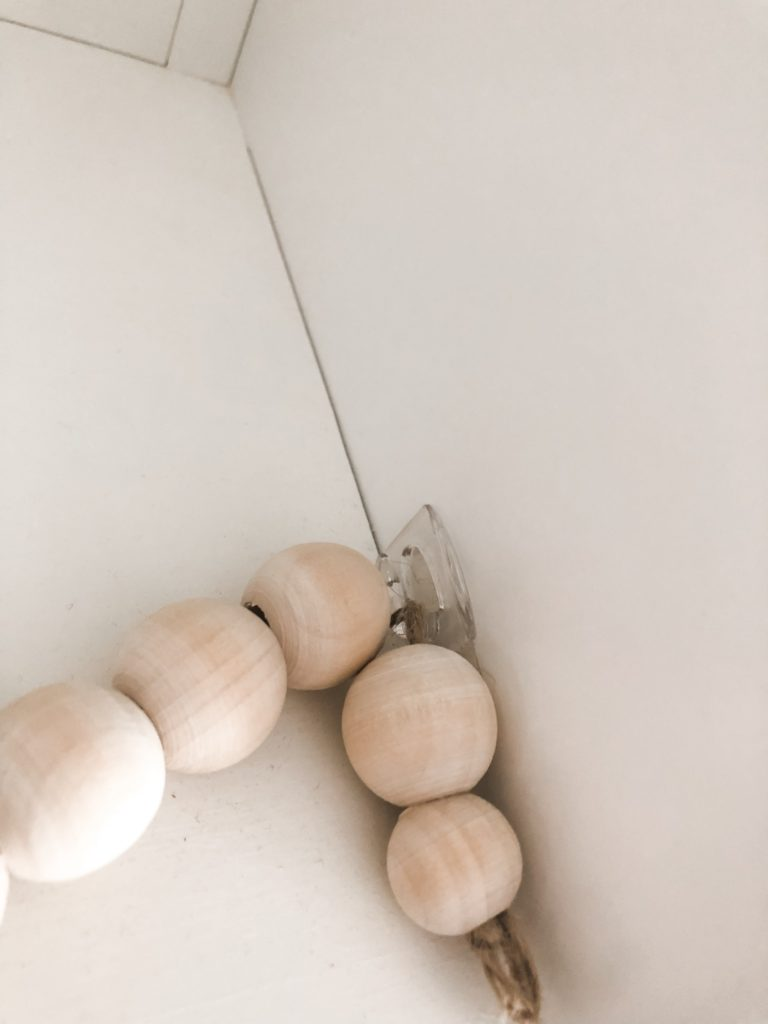 Diy Wood Bead Garland Perfect For The Mantle Birkley Lane Interiors