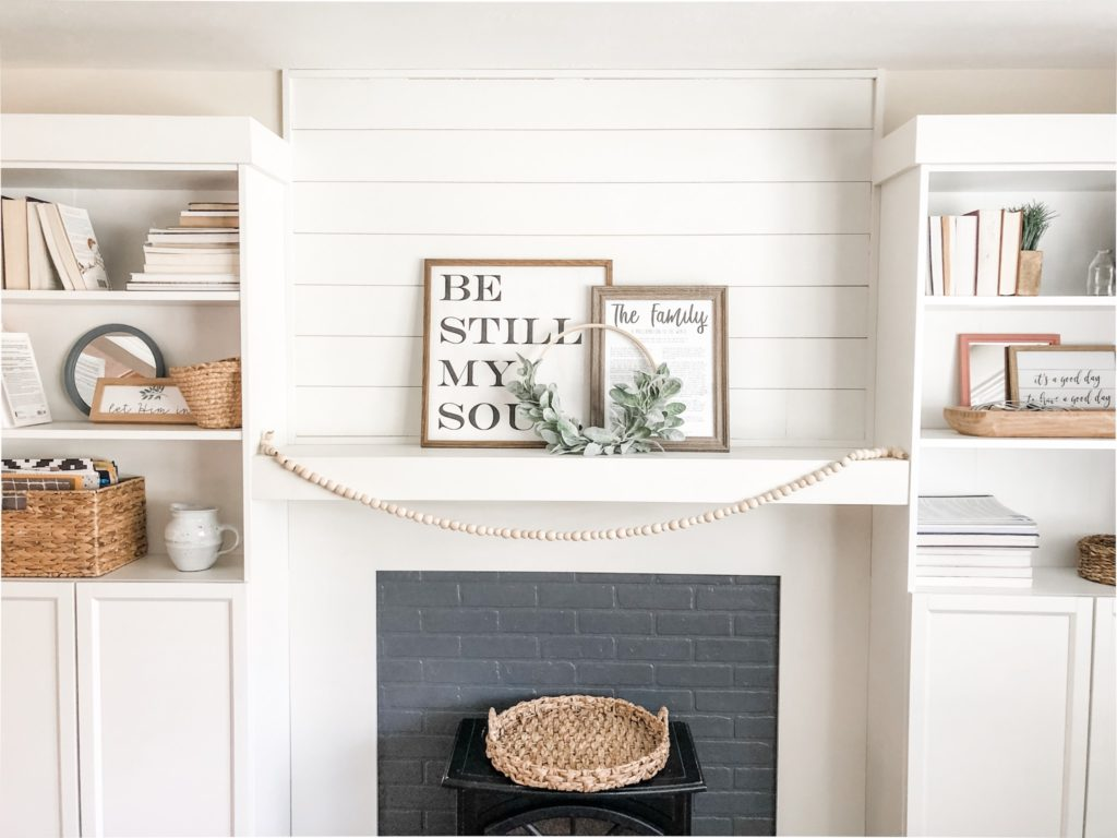 Diy Wood Bead Garland Perfect For The Mantle Birkley Lane Interiors